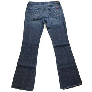 """7 For All Mankind Jeans - 7 For All Mankind """"A"""" Pocket Flare Stretch Jeans"""